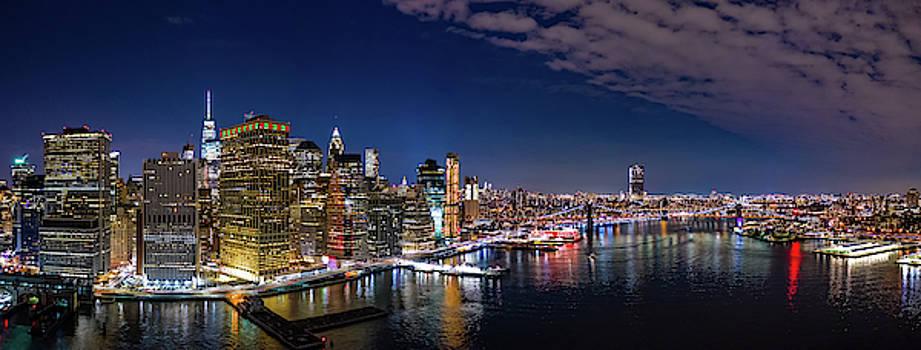 Aerial panorama of New York skyline by Mihai Andritoiu