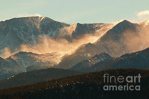 Steve Krull - Blowing Snow on Pikes Peak Colorado