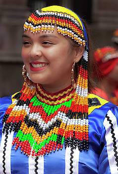 Filipino Day Parade NYC 2019 Female Dancer  by Robert Ullmann