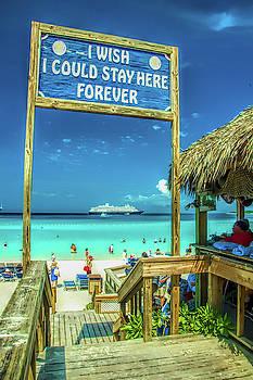 Half Moon Cay, Bahamas beach scene by David Smith