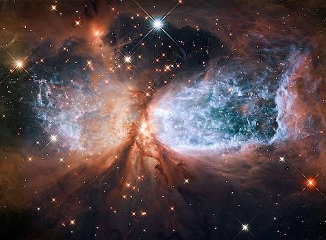 Hubble view of star-forming region S106 by Celestial Images