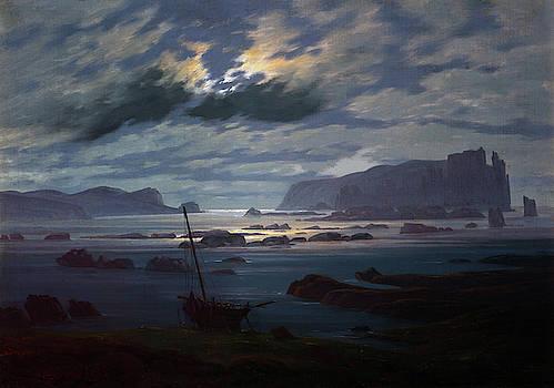 Caspar David Friedrich - Northern Sea in the Moonlight