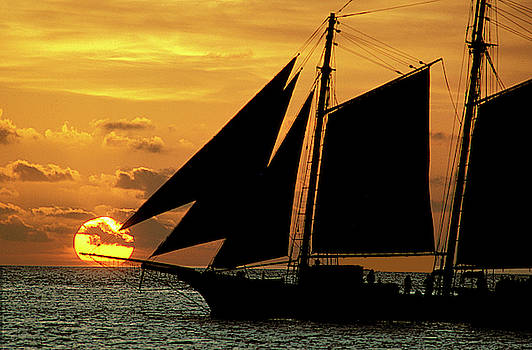 Schooner in Key West by Carl Purcell