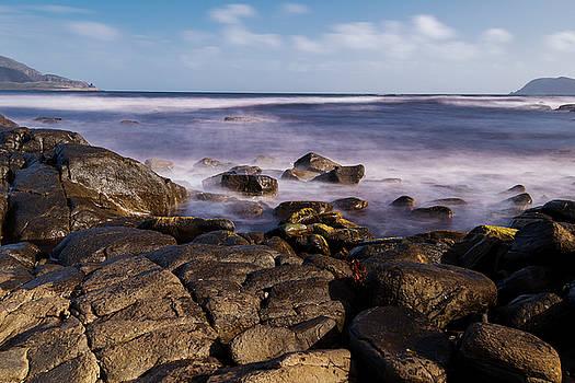 View of Cloudy Bay in Bruny Island, Tasmania, Australia. by Rob D