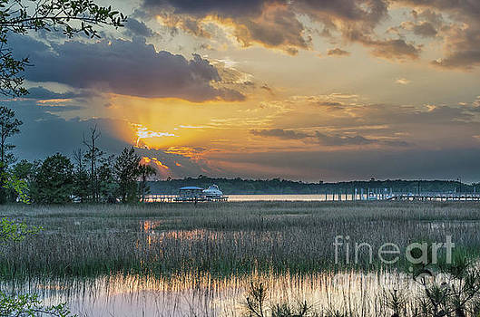Wando River - Winter Sunset by Dale Powell