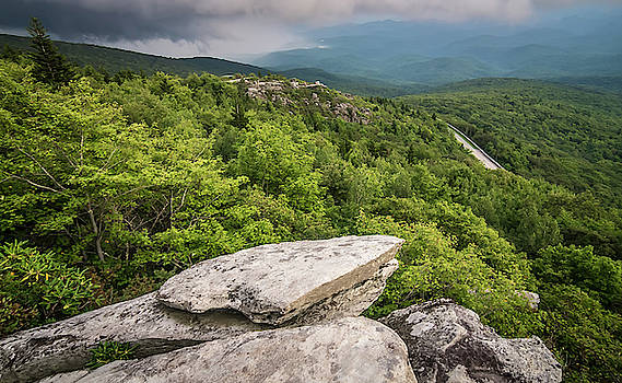 Rough Ridge Overlook Viewing Area Off Blue Ridge Parkway Scenery by Alex Grichenko