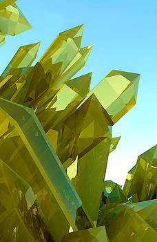 3d Yellow Crystals by Grant Osborne