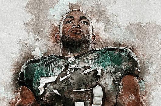 Brandon Graham. Philadelphia Eagles. by Nadezhda Zhuravleva