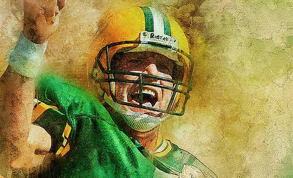 Brett Favre .Green Bay Packers. by Nadezhda Zhuravleva