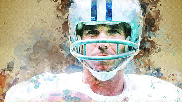 Dallas Cowboys.Roger Thomas Staubach. by Nadezhda Zhuravleva