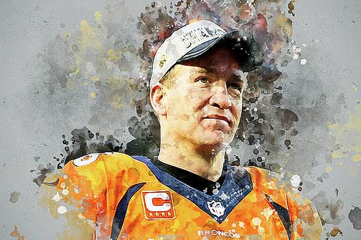 Denver Broncos.Peyton Manning. by Nadezhda Zhuravleva