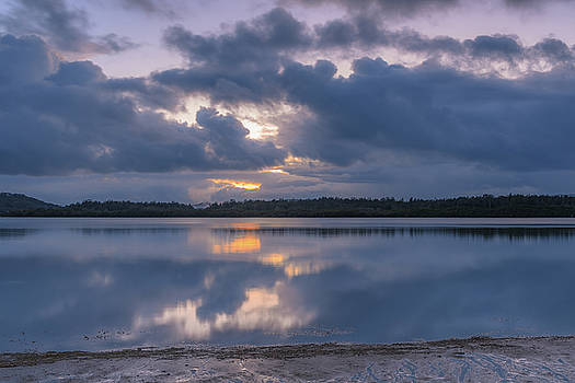 Early Morning Rain Clouds over the Bay by Merrillie Redden