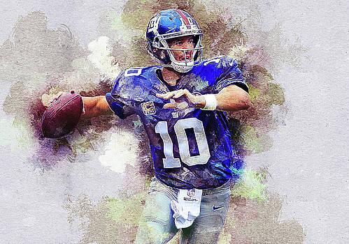 Eli Manning. New York Giants. by Nadezhda Zhuravleva