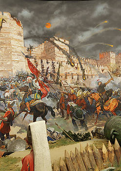 Final assault and the fall of Constantinople in 1453 by Steve Estvanik