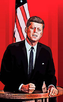 John Fitzgerald Kennedy by Elena Kosvincheva