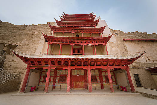 Mogao Caves Complex Dunhuang Gansu China by Adam Rainoff
