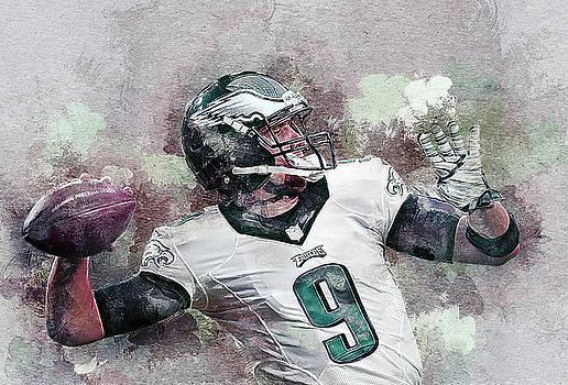 Nick Foles. Philadelphia Eagles. by Nadezhda Zhuravleva