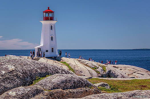 Peggys Cove Lighthouse by Ken Morris
