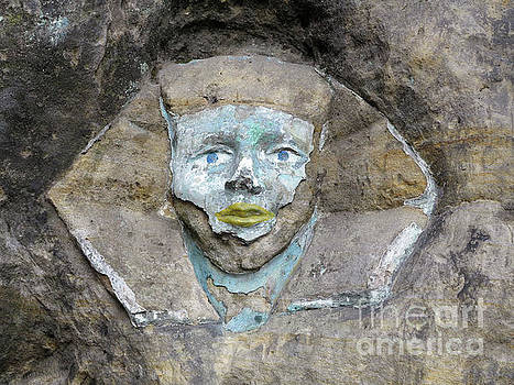 Rock relief - the face of the Sphinx by Michal Boubin