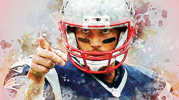 Tom Brady.New England Patriots. by Nadezhda Zhuravleva