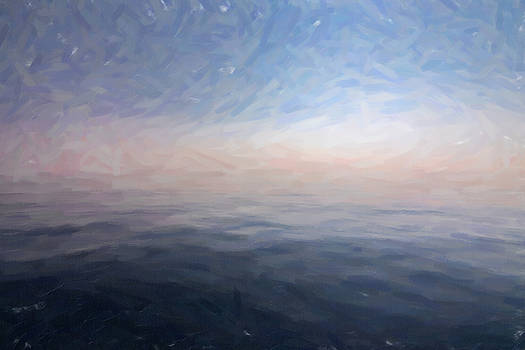 Digital painting of the blue sea by Vicen Fotografia