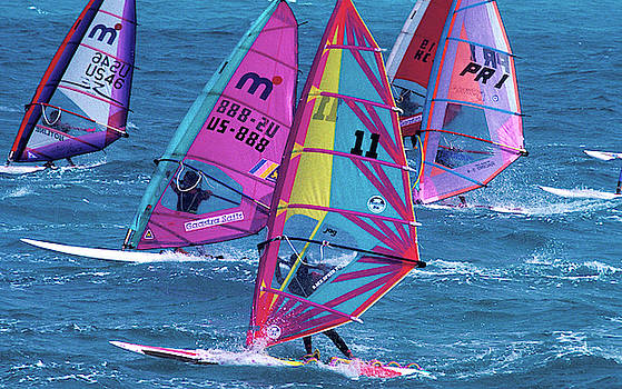 Windsurfing in Nassau by Carl Purcell