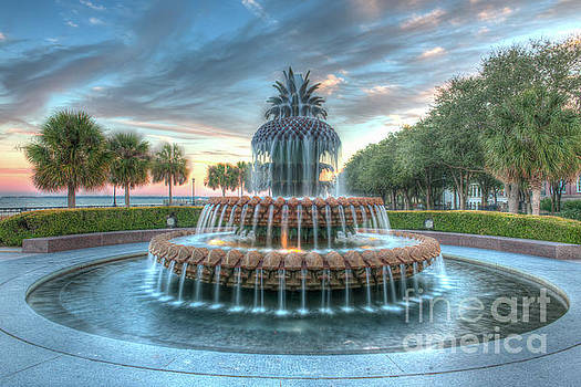 Dale Powell - Pineapple Sunset over Charleston South Carolina