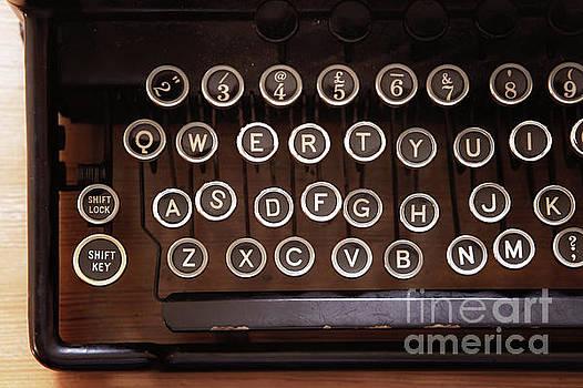 A vintage typewriter by Tom Gowanlock