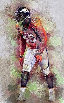 Denver Broncos.Von Miller. by Nadezhda Zhuravleva