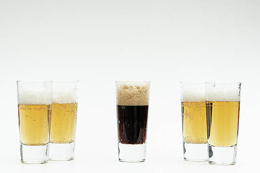 5 Glasses Of Beer Symbolize Diversity  by Karsten Eggert