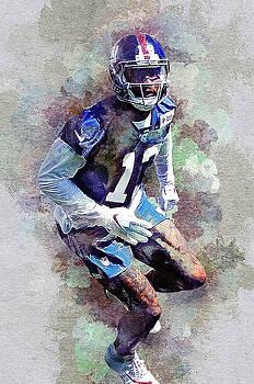 Odell Beckham. New York Giants. by Nadezhda Zhuravleva