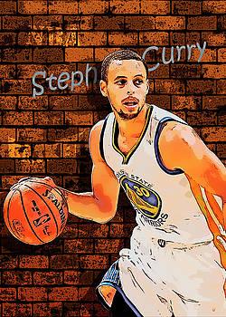 Portrait of Stephen Curry by Nadezhda Zhuravleva