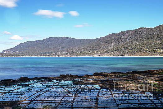 Tessellated Pavement in Pirates Bay. by Rob D