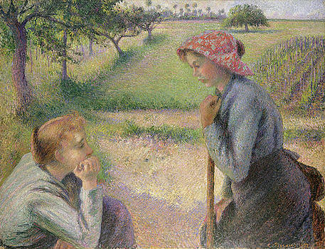 Camille Pissarro - Two Young Peasant Women