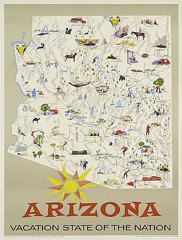 Vintage poster - Arizona by Vintage Images