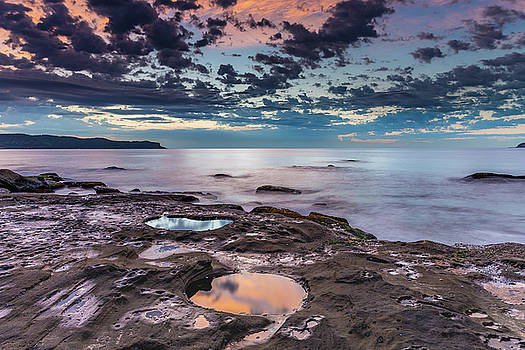 Sunrise Seascape with Clouds by Merrillie Redden