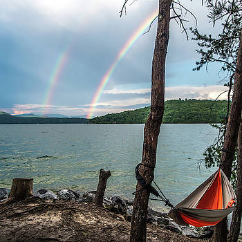 Camping In Mountains Near A Lake by Alex Grichenko
