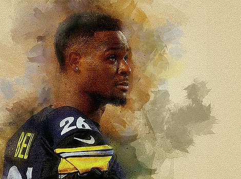 Le'Veon Bell.Pittsburgh Steelers. by Nadezhda Zhuravleva