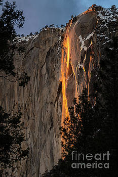 The magical natural phenomena known as Fire Fall. by Jamie Pham