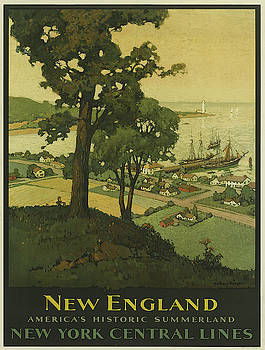 Vintage poster - New England by Vintage Images