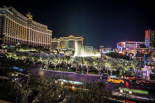 World Famous Fountain Water Show In Las Vegas Nevada by Alex Grichenko