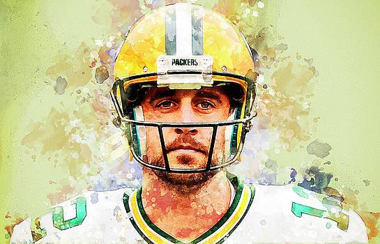 Aaron Rodgers.Green Bay Packers. by Nadezhda Zhuravleva