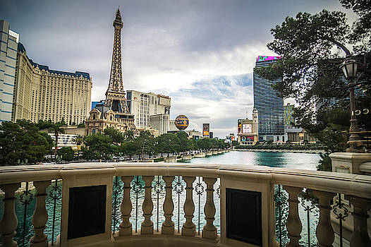 Hotels And City Skyline In Las Vegas Nevada by Alex Grichenko