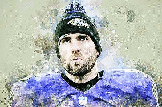 Joe Flacco. Baltimore Ravens by Nadezhda Zhuravleva