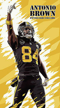 Antonio Brown.Pittsburgh Steelers. by Nadezhda Zhuravleva