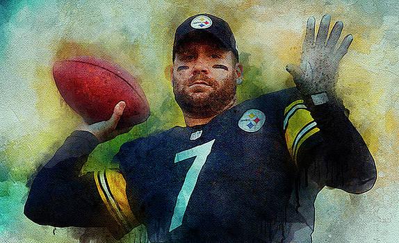 Ben Roethlisberger.Pittsburgh Steelers. by Nadezhda Zhuravleva