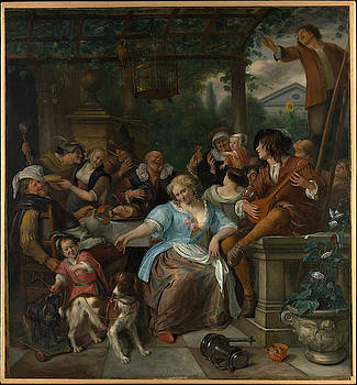 Jan Steen - Merry Company on a Terrace