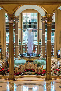 Interior Halls And Decorations Around Las Vegas Nevada Hotels  by Alex Grichenko