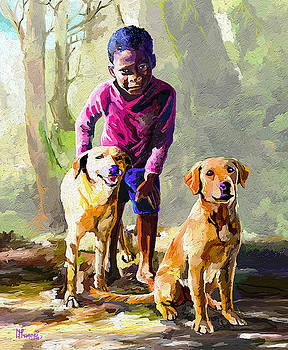 Boy and his Dogs by Anthony Mwangi