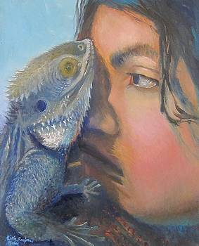 A boy and his pet dragon by Lilly Ramphal